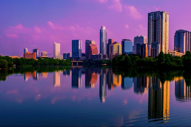 The Pink Sunrise of Austin, Texas