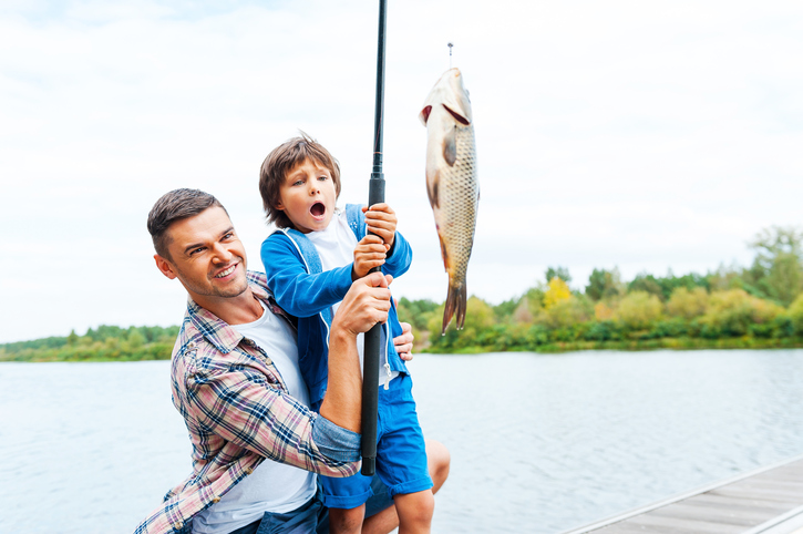 Teaching your kids to fish caliterra living for Fishing stuff for kids