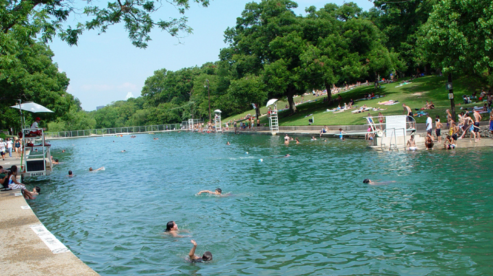 swimming holes near Dripping Springs, Barton Springs